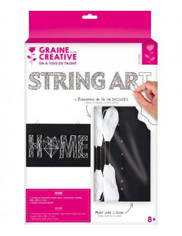 Kit Tableau String Art Home - 30x20cm - Graine Créative