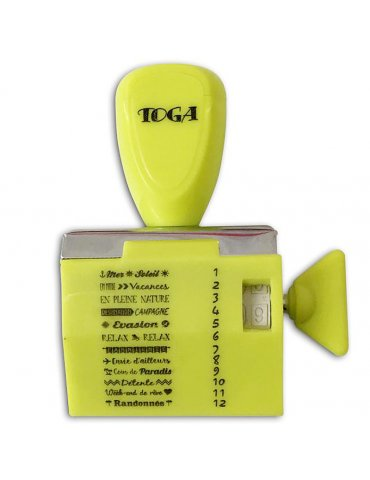Tampon à molette - Messages Vacances - Toga