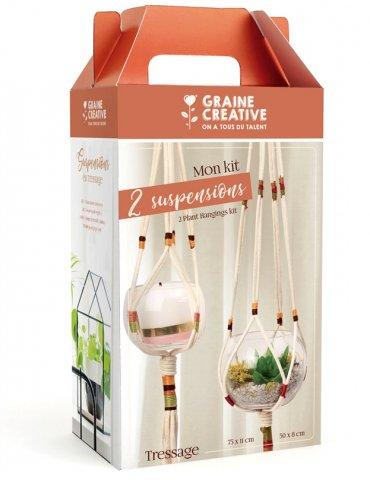 Kit tressage - Suspensions pour plantes - Graine Créative