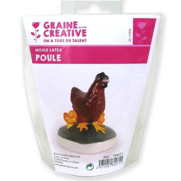 Moule latex Poule - Graine Créative