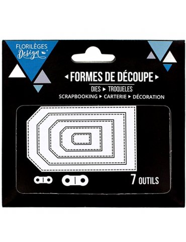 Dies Florilèges Design - Tags basiques (7 pièces)