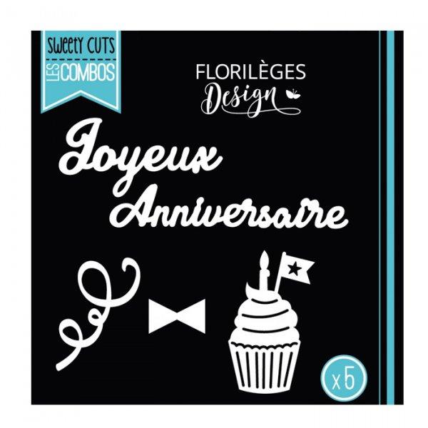 Dies Joyeux anniversaire (5 matrices) - Florilèges Design