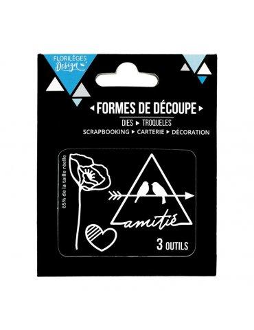 Dies Douce amitié (3 matrices) - Florilèges Design