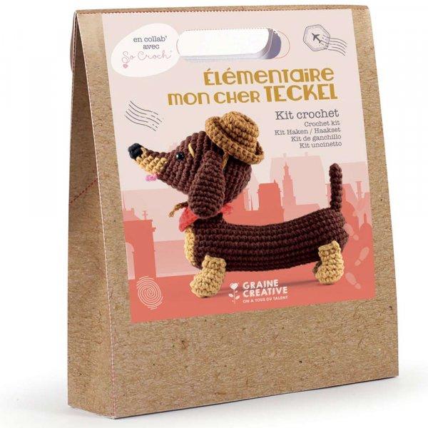Kit crochet - Amigurumi Teckel 18cm - Graine Créative