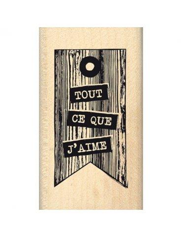 Tampon bois Tout Ce Que J'aime - Florilèges Design