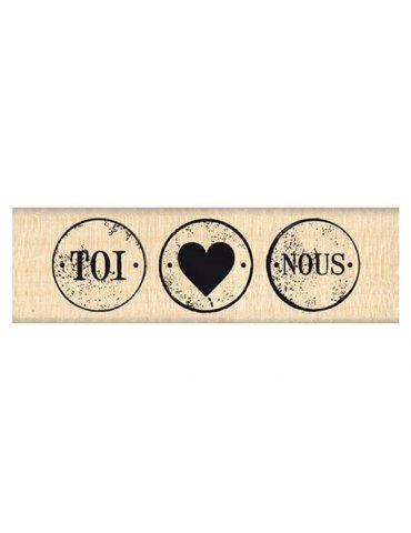 Tampon bois Trois petits ronds - Florilèges Design