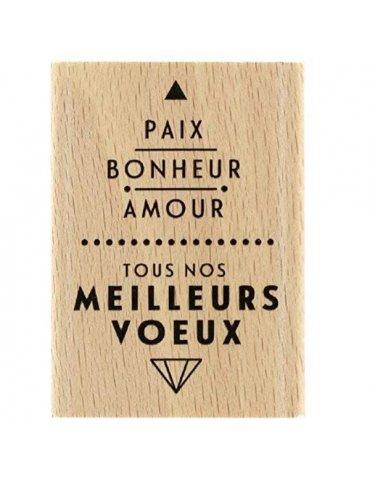 Tampon bois Paix et Amour - Florilèges Design - FE217058