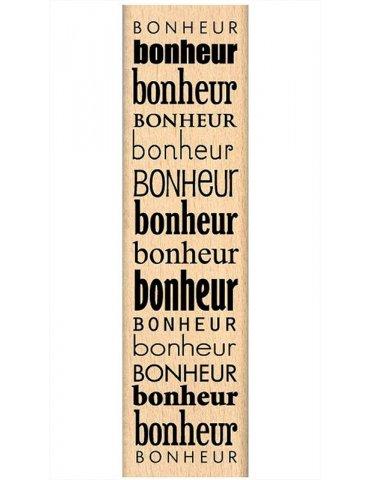 Tampon bois Beaucoup de Bonheur - Florilèges Design - FF210149