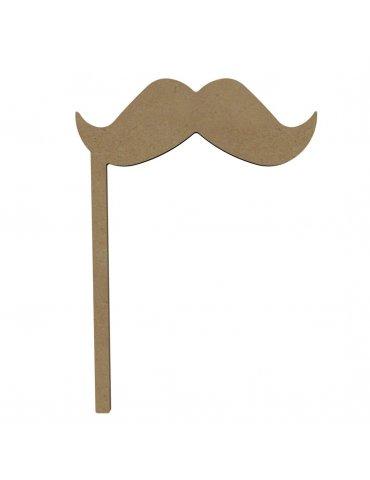 Photobooth à décorer Moustache 26cm - Gomille