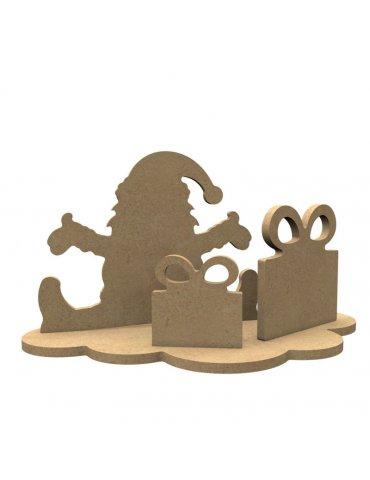 Support Medium - Père Noël et cadeaux à décorer