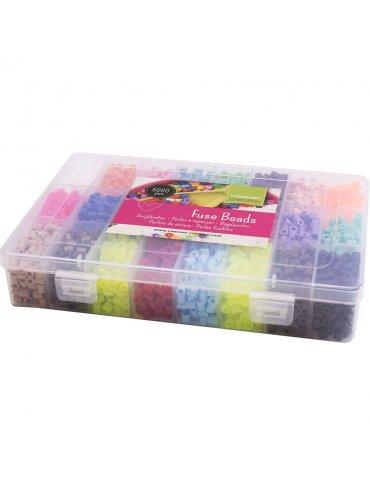 Boite 5000 Perles à repasser assorties - Vaessen Créative