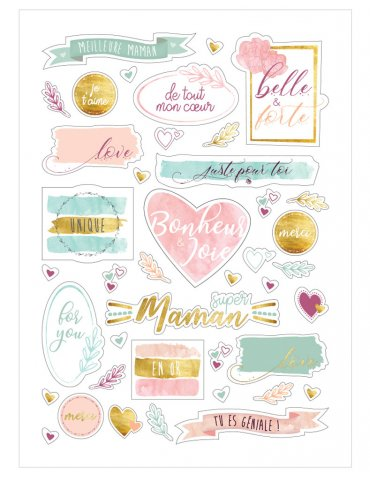 """Stickers """"Maman en or"""" avec Foil - Ctop"""