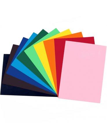 Papier couleur A4 220g - 10 Feuilles couleurs assorties - Ctop