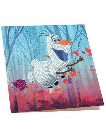 DISNEY Olaf - Carte à diamanter 18x18 cm - Crystal Art