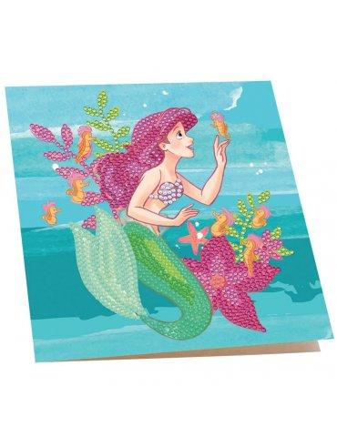 DISNEY La petite Sirène - Kit Carte à diamanter 18x18 cm - Crystal Art