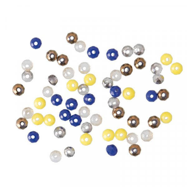 Perles à facettes 3mm  Artisan - 60 perles de rocaille en verre