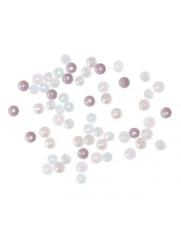 Perles à facettes 3mm  Sorbet - Mix 60 perles de rocaille en verre