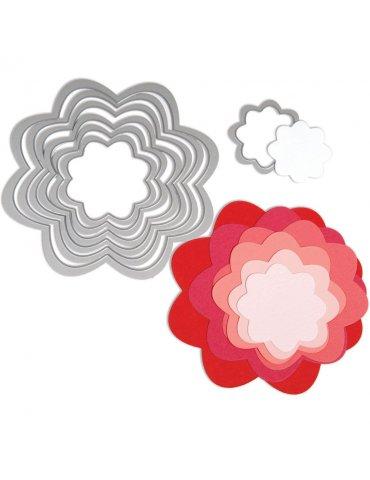 Sizzix - Dies Framelits fleurs - 7 matrices