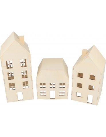 Set 3 Maisons en bois à décorer - Artemio