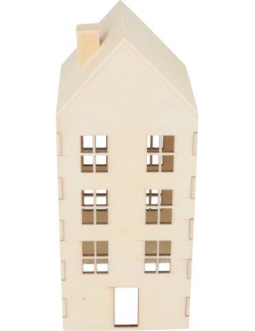 Maison en bois à décorer - 18.8x7.8x8 cm - Artemio