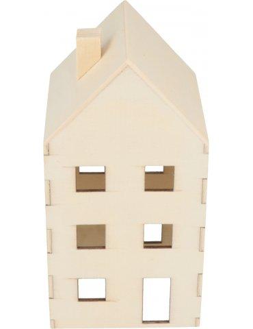 Maison en bois à décorer - 10x9.2x8 cm - Artemio