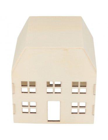 Maison en bois à décorer - 15x7.8x8 cm - Artemio