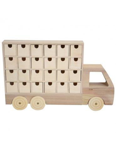 Calendrier de l'avent - Camion bois 48 cm - Artemio