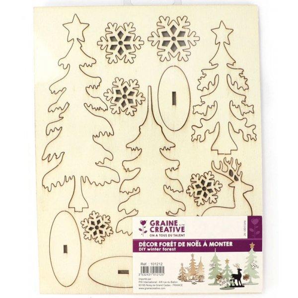 Planche décor à monter Forêt de Noël - Graine Créative