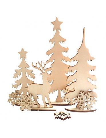 Planche décor à monter Forêt d'hiver - Graine Créative