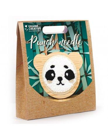 Kit punch needle Panda15cm - Graine Créative