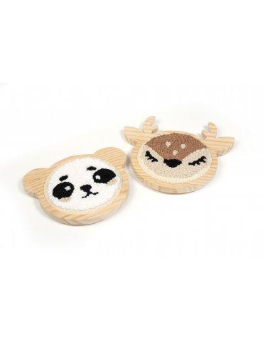 Kit punch needle - Panda...