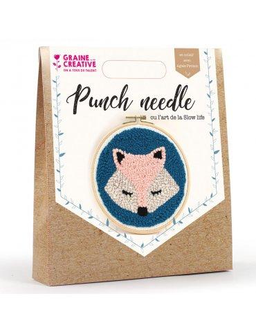 Kit punch needle - Renard 20cm - Graine Créative
