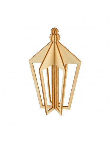 Silhouette bois 3D - Lanterne 10cm - Artemio