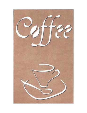 Tableau ajouré Coffee MDF -...