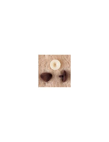 Nez velours brun 12mm