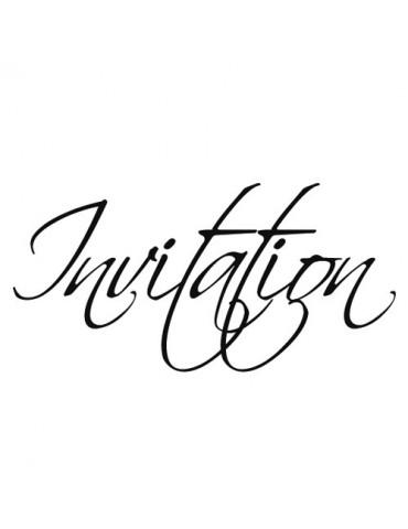 Tampon bois C - Invitation