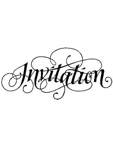 Tampon bois F - Invitation