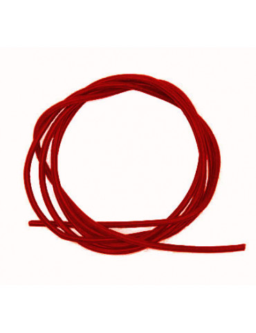 Cordon cuir rouge 1mm /1m x10