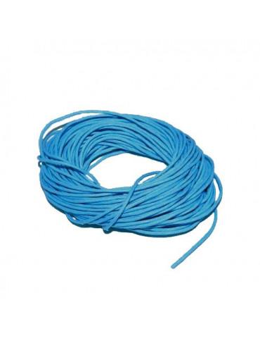 Cordon en coton turquoise...
