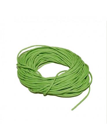 Cordon en coton vert 1mm x5m