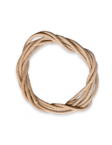 Lanière cuir naturel 2mm /1m