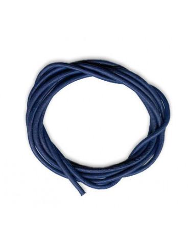 Lanière cuir bleu moyen 2mm...