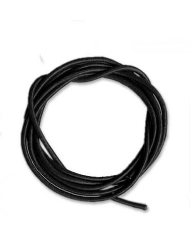 Lanière cuir noir 2mm /1m