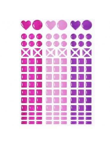 Mosaique stickers magenta,...