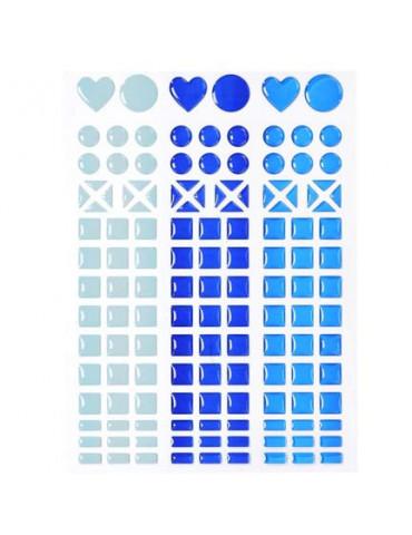 Mosaique stickers camaïeu bleu
