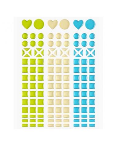 Mosaique stickers vert...