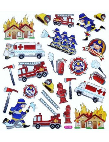 Gommettes stickers Pompiers...