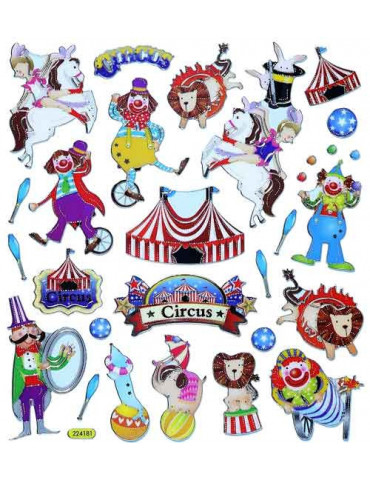 Gommettes stickers Circus x25