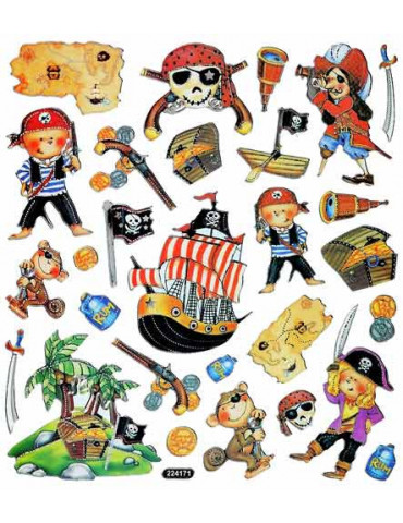 Gommettes stickers Pirates x28