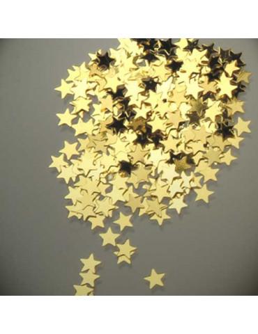 Paillettes petites étoiles or